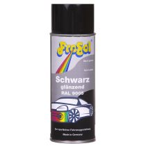 Spray De Tinta Preto Brilho Automotivo