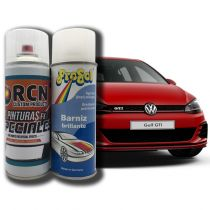 Kit Spray Pintura Coche + Barniz 1K
