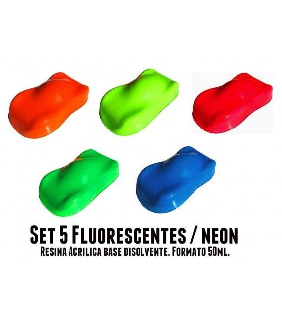 Kit 5 Pintura Fluoreszenteak Racing Koloreak (5ud x 50ml)