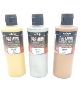 Kit Paints Airbrush Metallic Premium Vallejo (3ud x 200ml)