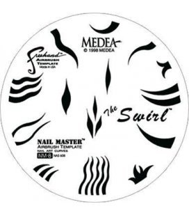"Template Nail Airbrushing ""Master 8 - The Swirl"""