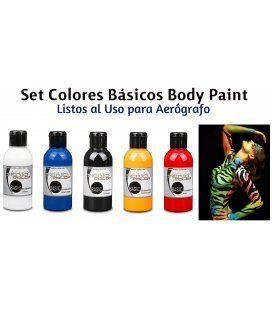 Kit Pinturas Body Paint Básicos Senjo (5ud x 75ml)