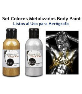 Kit Pintura Body Paint Metalizada Senjo (75ml)