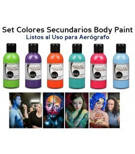 Kit de Tintas Body Paint Secundários Senjo (5ud x 75ml)