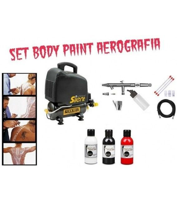 Set Body Paint Aerografia Profesional
