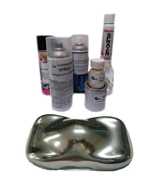 Kit Sprays Efecto Cromo Metalchrome - COMPLETO (4 Sp)
