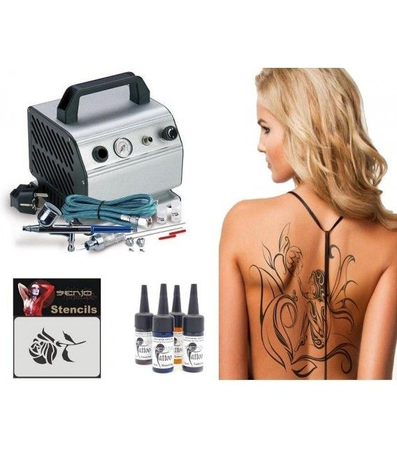 Set Airbrush Tattoo Mittelstufe