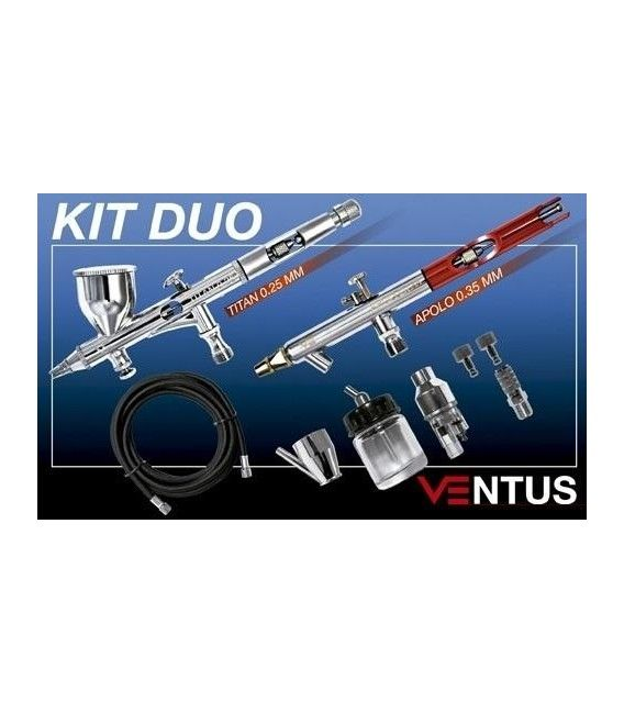 Kit 2 Aerografos Ventus + Accessories