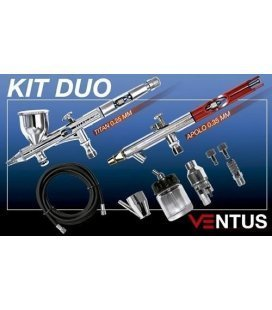 Kit 2 Aerografos Ventus + Accessori