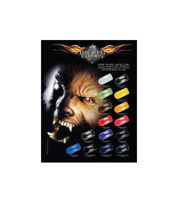 Set Pinturas Fuego Real Wicked (6ud x 60ml)