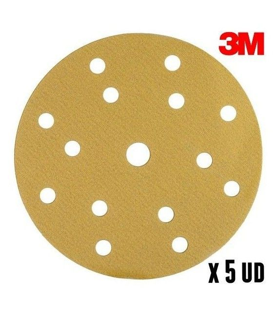 5ud Disques P80 Abrasif Hookit 3M (150mm)