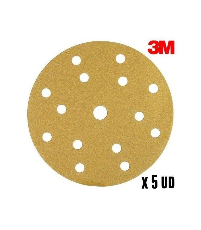 50 Discs P1200 3M 150mm Sanding Discs 15 holes