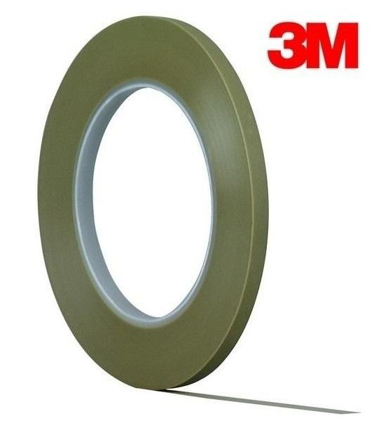 Fine Line Masking Tape Acrylic High Temperature 3mm 6mm 9mm 12mm 19mm 55mtrs