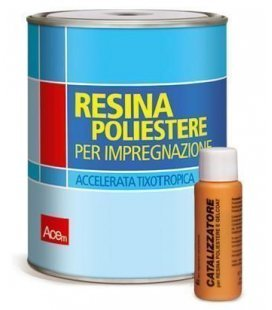 Resin polyester (Vitroresina) 1L + cat