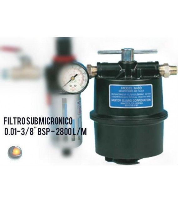 "Filter submicronico air 0.01 µ-3/8"" BSP - 2800 l/m"