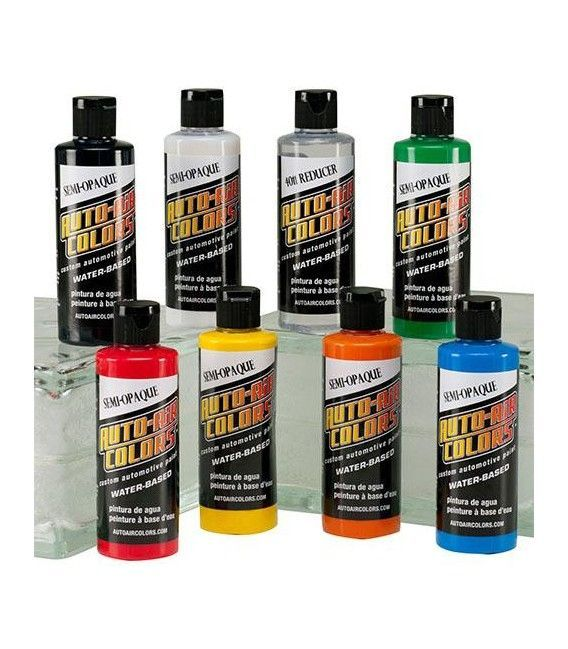 Set Paints Auto Air Semi Opaque - 8ud x 120ml