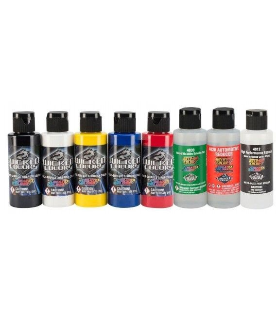 Set Paints Wicked Colors + 3 Reducers - 60ml
