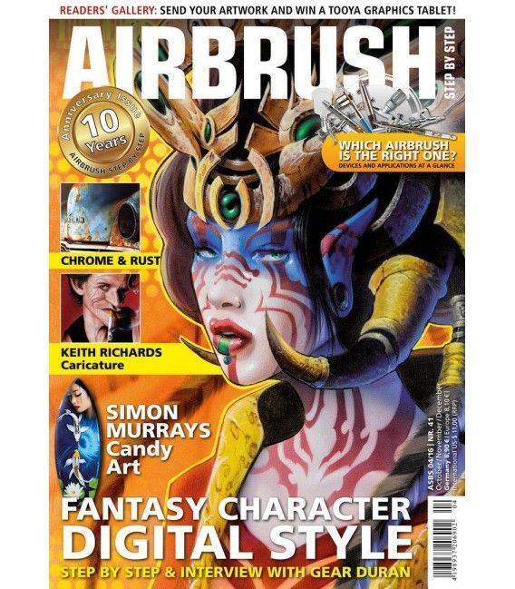 Zeitschrift Airbrush Step By Step - Nº41