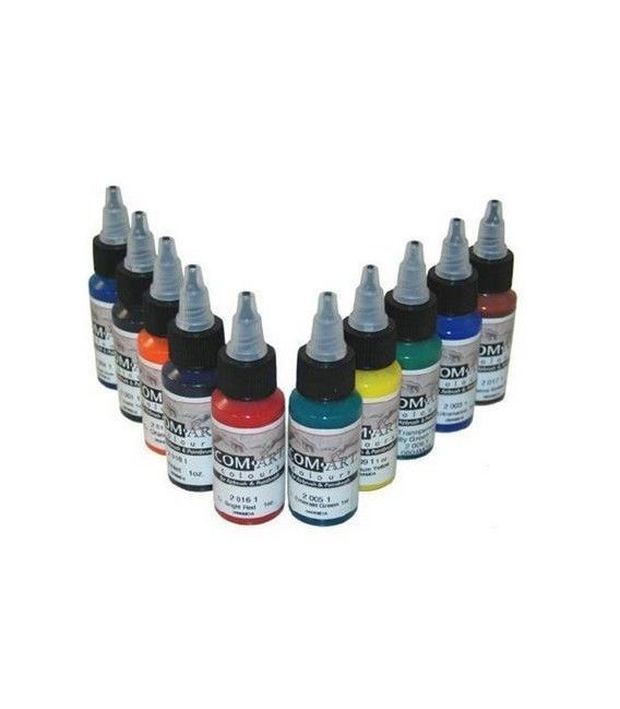 Set Transparent Paints Com-Art KIT E (28ml x 10ud)