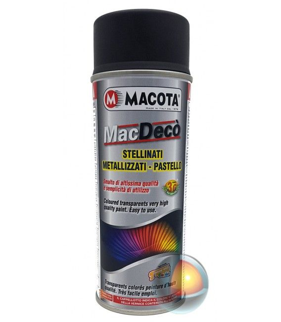 Spray De Negro Mate Axuste Macota