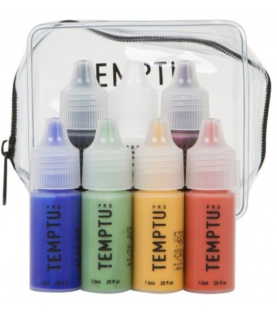 Kit 7 Adjusters Temptu Makeup Aerografo