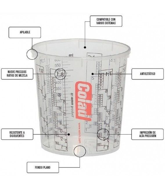 Becher Mix-COLAD 700ml (Pack 5ud)