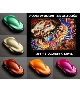 "Réglez ""Sélection"" House Of Kolor (5 x120ml) (-20%)"