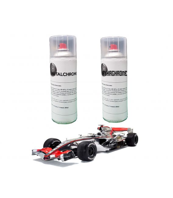 Kit Spray Effetto Cromo Metalchrome - BASIC (2 Sp)
