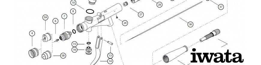 Pièces Détachées Pistolets De Pulvérisation, Iwata