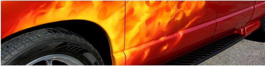 Pintura Aerografía Fuego Real