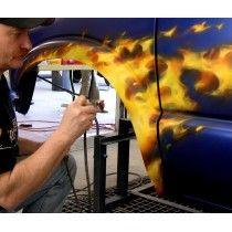 Peinture À L'Aérographe Vrai Feu